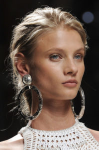 balmain-silver-metal-hoop-earrings-spring2013-runway